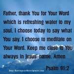 Prayer To Meditate On Gods Word