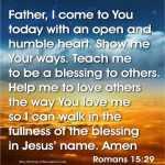 How To Pray Romans 15:29