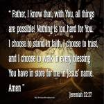 How To Pray Jeremiah 32:27