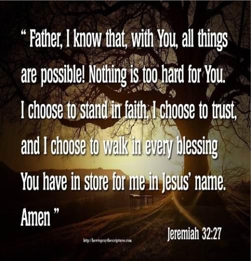 How To Pray Jeremiah 32:27