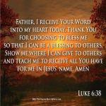 How to pray Luke 6-38