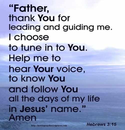 How To Pray Hebrews 3:15