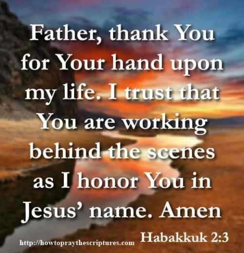 Gods Hand Is Upon Me Prayer
