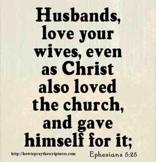 Bible quotes about loving your wife