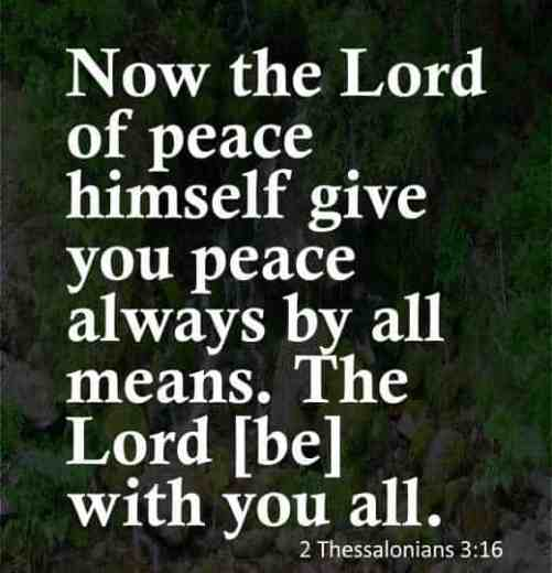 peace in the world bible verses