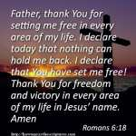 Prayer To Set Yourself Free