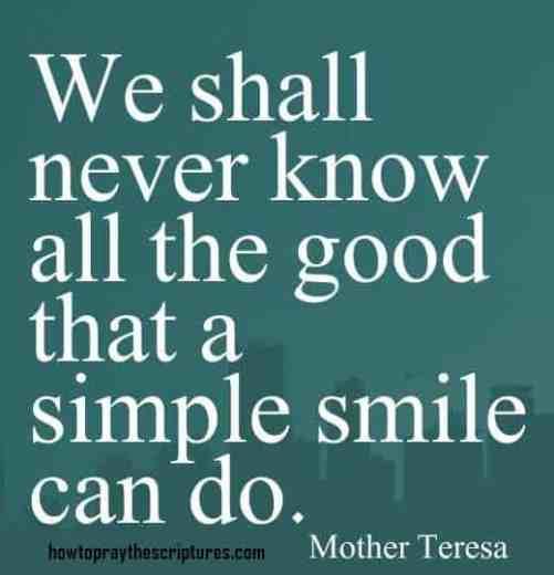 inspirational bible verses mother teresa