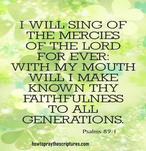 I will sing of the mercies of the LORD for ever