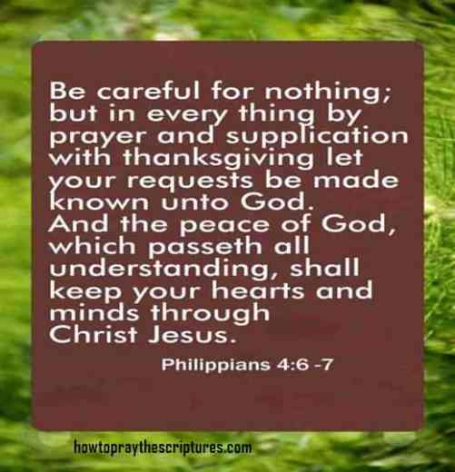 Be Careful For Nothing But In Every Thing By Prayer