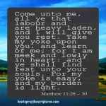Come Unto Me All Ye That Labour And Are Heavy Laden