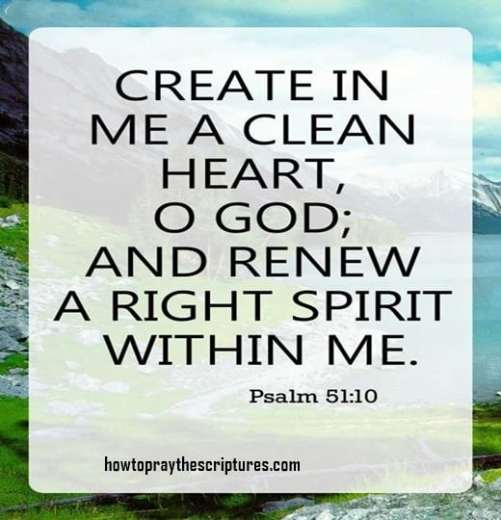 Create In Me A Clean Heart O God
