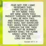 Fear Not For I Have Redeemed Thee