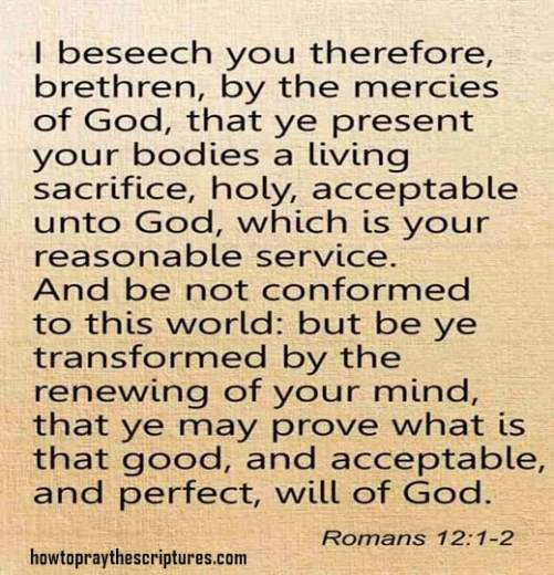 I Beseech You Therefore Brethren By The Mercies Of God