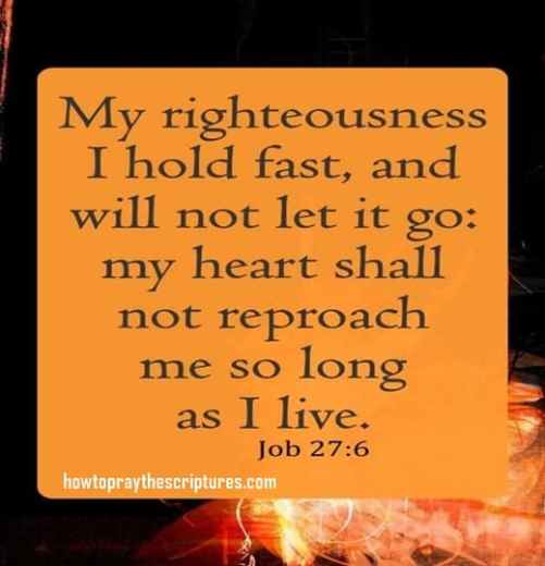 My Righteousness I Hold Fast