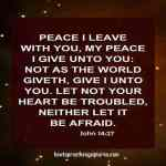 Peace I Leave With You My Peace I Give Unto You