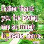 Prayer To Thank God For Loving Me