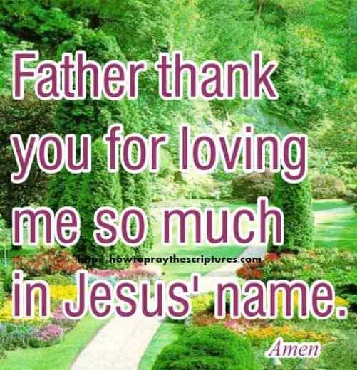 Prayer To Thank God For Loving Me