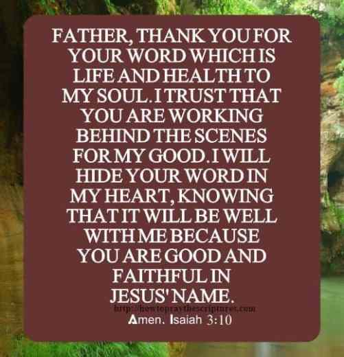 Prayer Thanking God For His Word