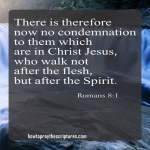 There is therefore now no condemnation to them