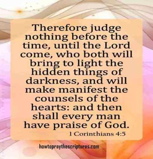 Therefore Judge Nothing Before The Time