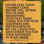 Father I bless And Honor Your Holy Name