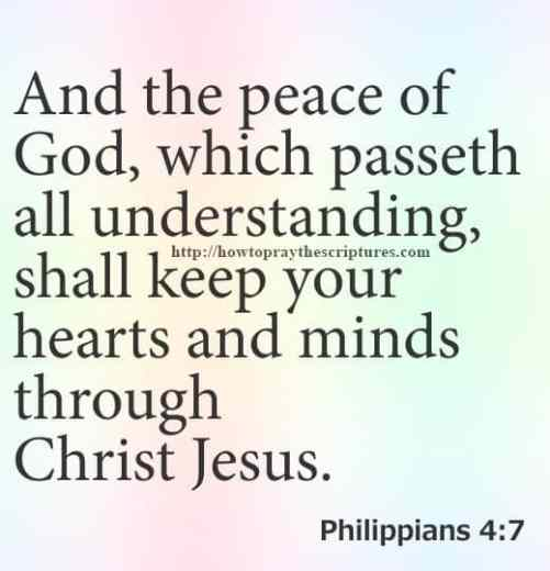 And The Peace Of God Philippians 4-7