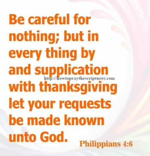 Be Careful For Nothing Philippians 4-6