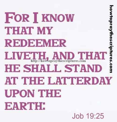 For I Know That My Redeemer Liveth Job 19-25