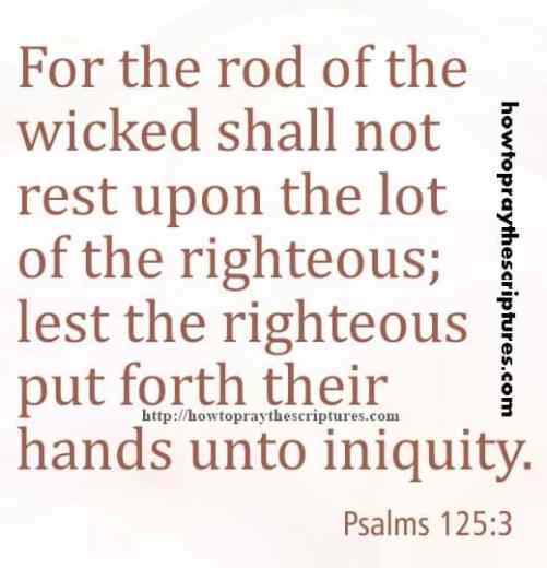 For The Rod Of The Wicked Psalms 125-3