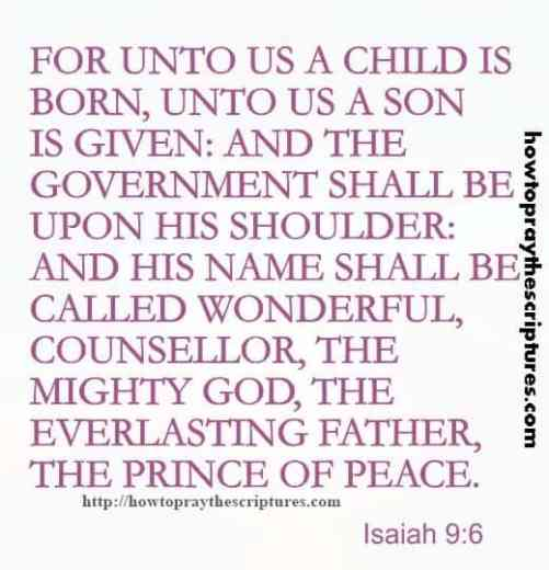 For Unto Us A Child Is Born Isaiah 9-6