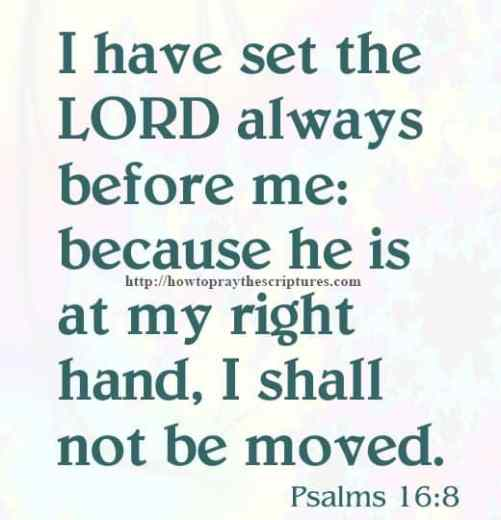 I Have Set The LORD Psalms 16-8