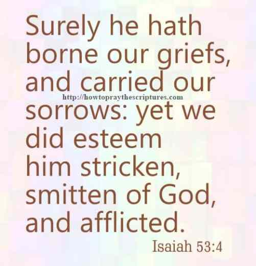 Surely He Hath Borne Our Griefs Isaiah 53-4
