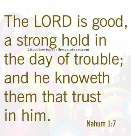 The LORD Is Good Nahum 1-7