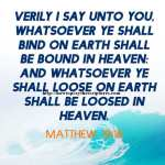 Verily I Say Unto You Matthew 18-18