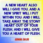 A New Heart Also Will I Give You Ezekiel 36-26