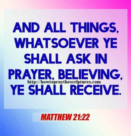 And All Things Whatsoever Ye Shall Matthew 21-22