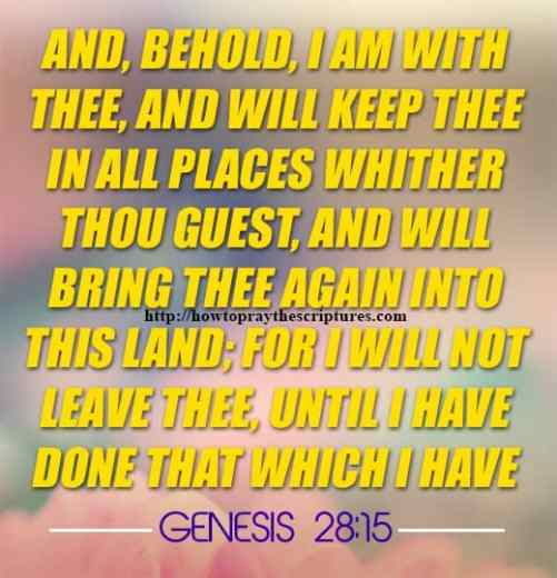 And Behold I Am With Thee Genesis 28-15