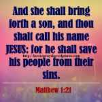 And She Shall Bring Forth A Son Matthew 1-21
