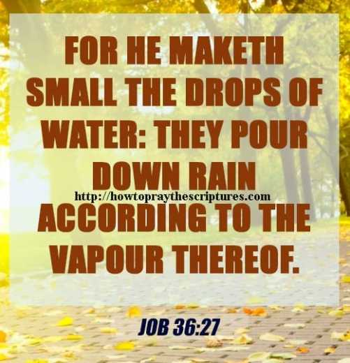 For He Maketh Small The Drops Of Water Job 36-27