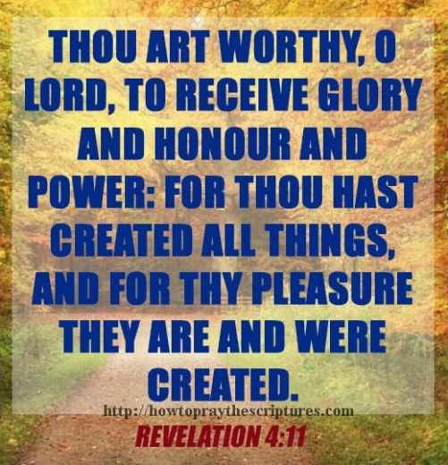 Thou Art Worthy O Lord Revelation 4-11