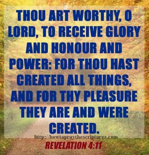 Thou Art Worthy O Lord Revelation 4-11