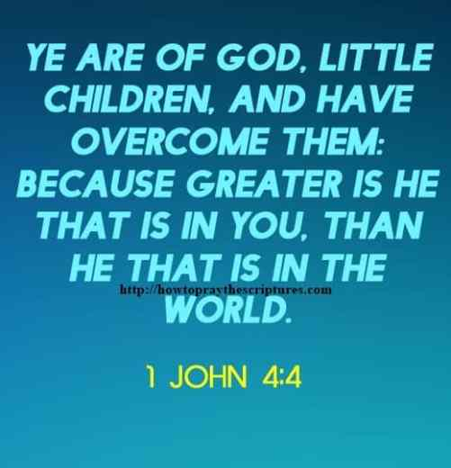 Ye Are Of God Little Children 1 John 4-4