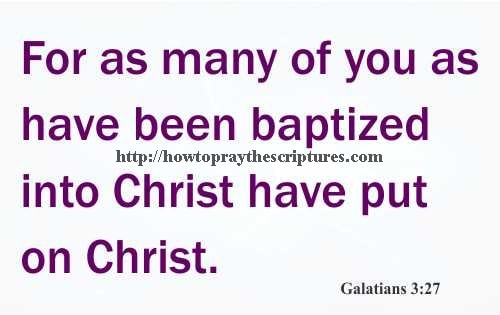 Bible Verses About Baptism