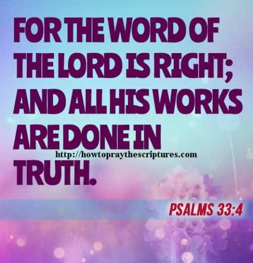 For The Word Of The LORD Is Right Psalms 33-4