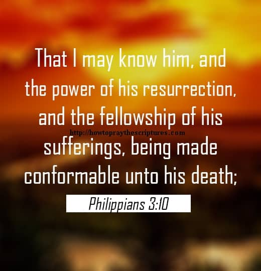That I May Know Him And The Power Of His Resurrection