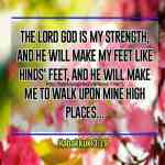 The LORD God Is My Strength Habakkuk 3-19
