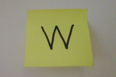 W is for Wall