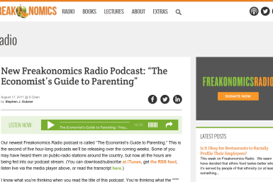 Ecomonists Guide To Parenting Pod Cast