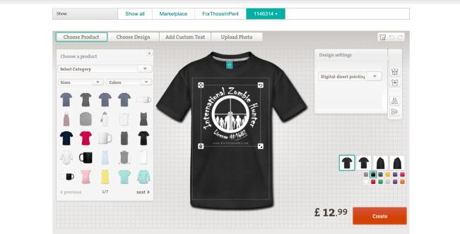 Spreadshirt Product Designer