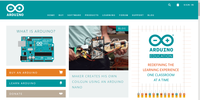 The Arduino open source project provides a simple framework and ecosystem for children to learn about coding programming and electonics.